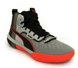 PUMA-Legacy-Disrupt-Men-039-s-Gray-Black-Basketball-Sneaker-19301801