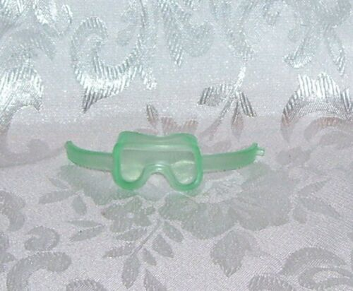 LITTLEST PET SHOP HASBRO ACCESSORY NEW  GREEN RUBBER SKI GOGGLES 2009 *LOOSE* #2
