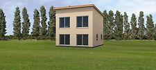 Fertighaus Rohbau mit Montage 8,00 x 8,00m Mini Haus Singlehaus Ausbauhaus