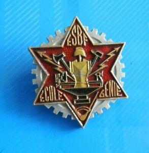 3534-Insigne-metallique-de-l-039-ecole-du-genie-Bois-et-Fer-de-fabrication-Augis