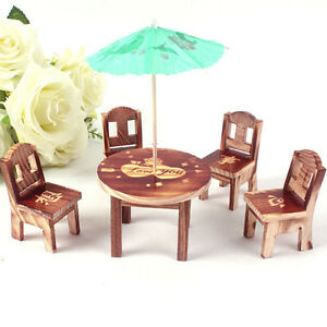 dollhouse cute furniture garden mini dining room table 4