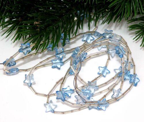 Perlenkette Girlande STERN 120cm h-blau Weihnachten DEKO//verarbeiten Posten 5796