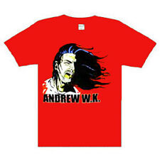 Andrew W.K Scream Music punk rock t-shirt  XLARGE RED NEW