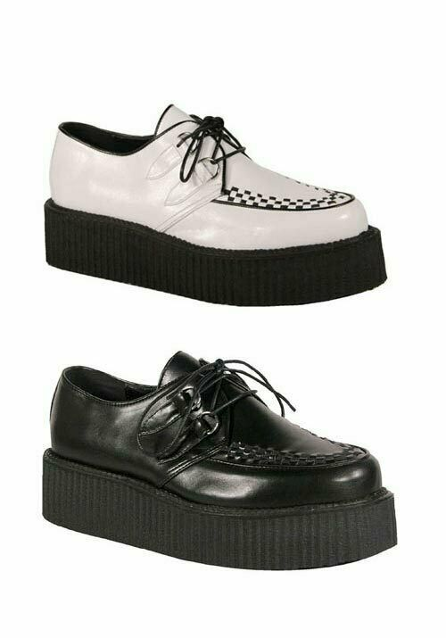 Demonia V-CREEPER-502 Mens 2 Inch Platform Basic Veggie Creeper shoes