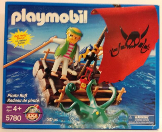 Playmobil 5780 Pirate Raft with changing color octopus - NEW