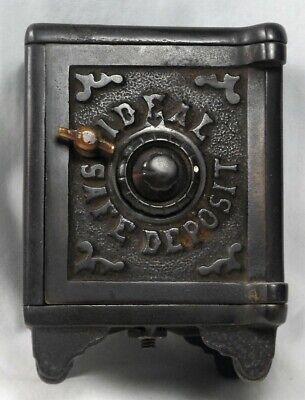 Antique Cast Iron Ideal Safe Deposit