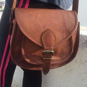 NEU-Original-Vintage-Braun-Leder-Messenger-Schultertasche-Handtasche-Bag-Aktentasche