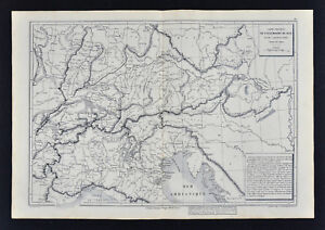 Map Of Germany Switzerland And Italy.1885 Drioux Map Physical Europe Germany Switzerland Italy Austria