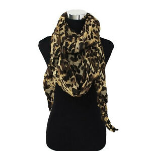 Large-Leopard-Cheetah-Brown-Black-Animal-Print-Cowl-Infinity-Loop-Scarf-Wrap