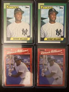 1990 Bernie Williams RC Dream Lot Qty 4 SHARP AMAZING CONDITION PSA/BGS Yankees