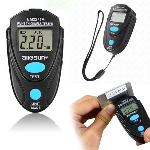 LCD Digital Car Paint Coating Thickness Probe Tester Gauge Meter Measuring Tools