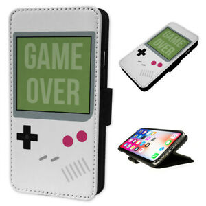 Game-Over-Game-Boy-Flip-Phone-Case-Wallet-Cover-Fits-Iphone-5-6-7-8-X-11