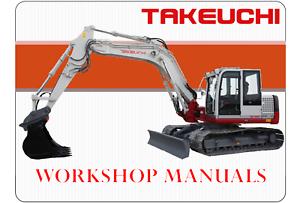 Details about Takeuchi TB250 AG7E006 Operators Manual
