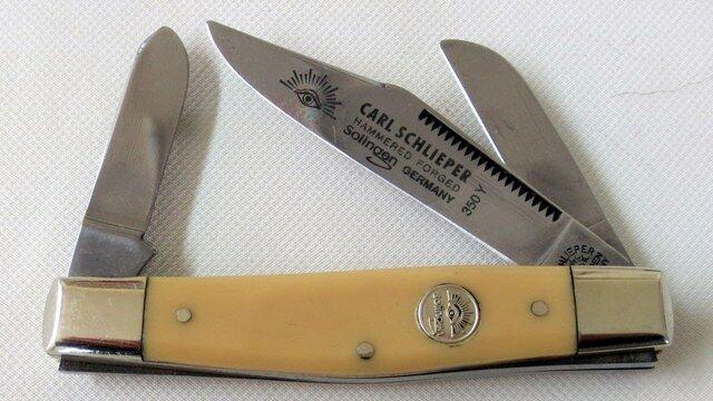 Carl Schlieper 350Y  Taschen- Kastrier-Sammlermesser aus Solingen Neu