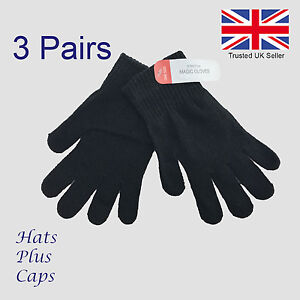 3-pairs-mens-womens-black-magic-warm-stretch-winter-thermal-gloves