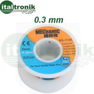 Bobina Stagno 50 gr per Saldature Elettronica 0.5mm Saldare Micro Filo