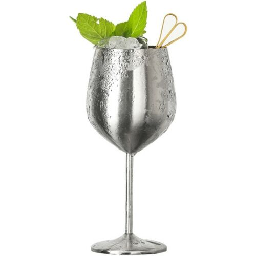 Shatterproof Stainless Steel Wine Glasses Goblets Bar Party Champagne Cup 500ml