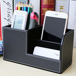 Image Is Loading 1x Portable Desk Organizer Box Pu Leather Office