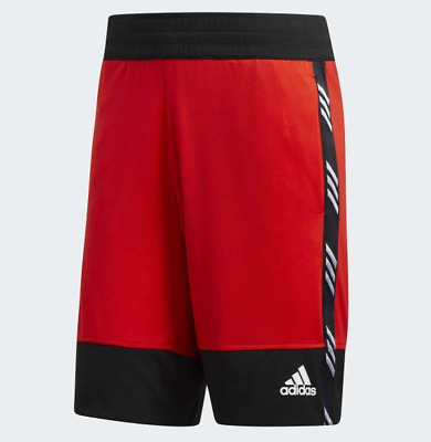 L Men adidas Pro Madness Athletic Basketball Shorts Red Black Climalite new NWT