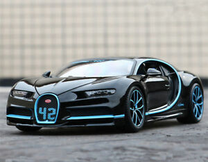 Bburago-1-18-Bugatti-Chiron-Black-Diecast-Model-Racing-Car-Vehicle-New-in-Box