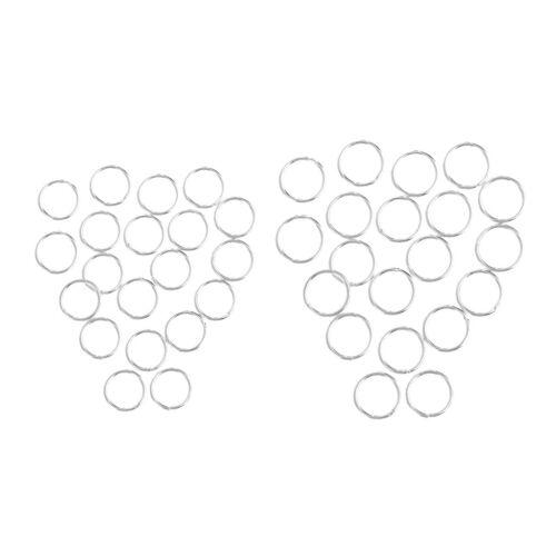 40Pc S925 Sterling Silber gelötet geschlossenen Biegeringe machen