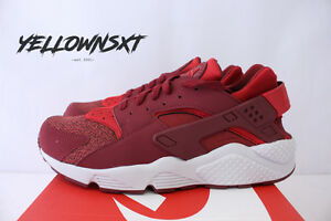 Nike Air Huarache Mens 318429-605 Team University Red Running Shoes Size 9.5