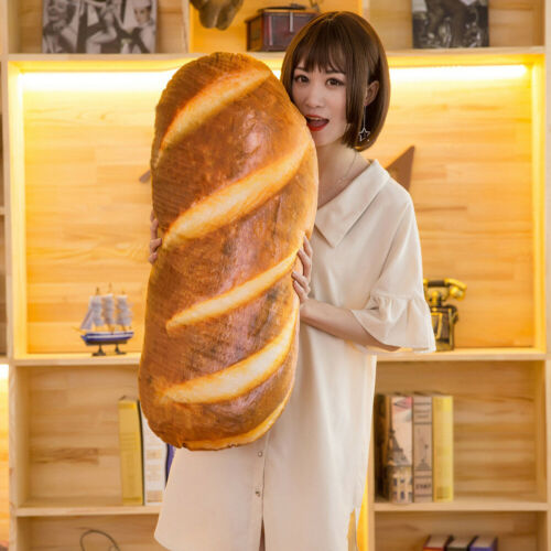 New 3D Simulation Bread Shape Pillow Soft Lumbar Back Cushion Plush Stuffed Toy