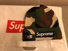 Authentic Supreme 2015 F/W Box Logo Era Winter Hat Beanie Camo