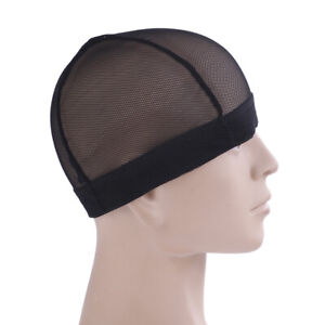 Black-breathable-mesh-dome-style-wig-cap-for-making-wig-snood-stretch-wig-cap-CP
