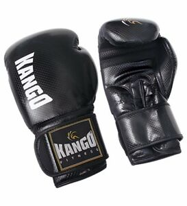KANGO Leather Boxing Gloves Fight Punch Bag MMA MUAY THAI Grappling Pads kick