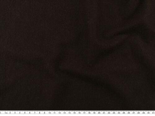 angeraut dunkelbraun Sweatshirtstoff 150cm