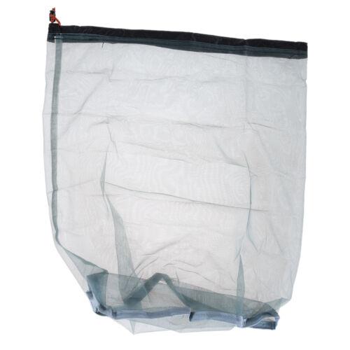 Ultralight Mesh Stuff Sack Drawstring Storage Bag Tavel Camping Hiking Sports