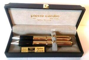 Pierre-Cardin-18K-Gold-Plated-Pen-amp-Mechanical-Pencil-Set-w-Original-Box