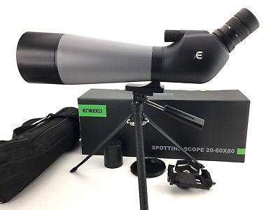 Dedito Enkeeo Impermeabile Angled Spotting Scope & Treppiedi 20-60x80 Multi-coated Lens Nuovo-mostra Il Titolo Originale