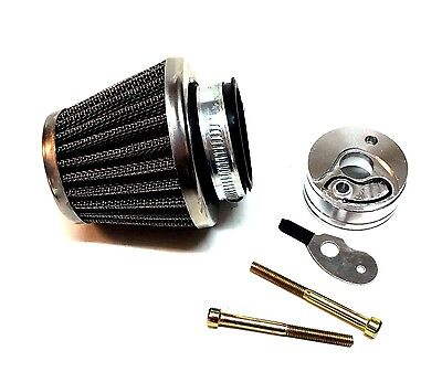 choke for 43cc,49cc Scooters Performance Round Chrome Air Filter Kit w//V-stack