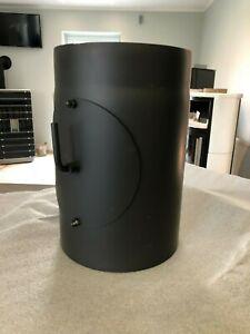 schwarz 300 mm L/änge und 150mm Durchmesser Rauchrohr mit Drosselklappe Ofenrohr Kaminrohr