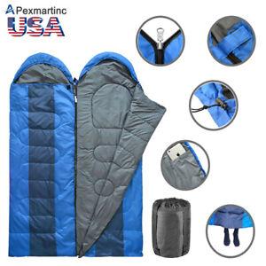 Double-2-Person-Envelope-Sleeping-Bag-Adult-Waterproof-Warm-Backpacking-Camping