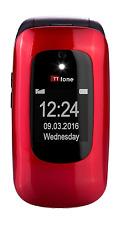 TTfone Lunar TT750 Big Button semplice facile benna Sbloccato FLIP TELEFONO CELLULARE -