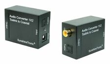 Optisch-Koaxial Audio Konverter + 0,7m Toslink-, Koaxialkabel(ms) + USB-Netzteil