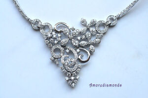 6-5ct-E-VS-round-diamond-fashion-collar-flower-designer-necklace-14k-white-gold