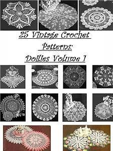 1 En Cd 25 Vintage ganchillo patrones Tapetes Vol