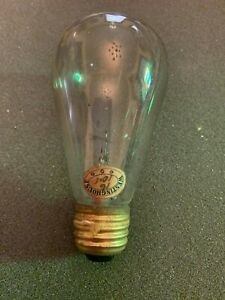 Antique-circa-1900-Westinghouse-16-Candle-Power-Light-Bulb-Tipped