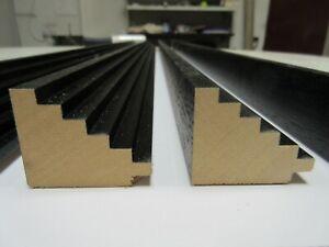 Complexé Bundle: 4 M Noir Step En Bois Cadre Photo Moulage - 42 Mm Large-afficher Le Titre D'origine Pour Aider à DigéRer Les Aliments Gras