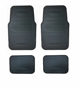 fu matten automatten 4tlg gummimatten auto schwarz f r. Black Bedroom Furniture Sets. Home Design Ideas