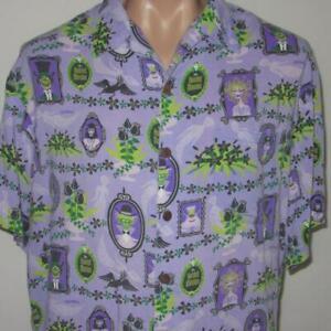 SHAG-Disneyland-Disney-40th-Year-Haunted-Mansion-XL-Aloha-Tiki-Shirt-999-Purple