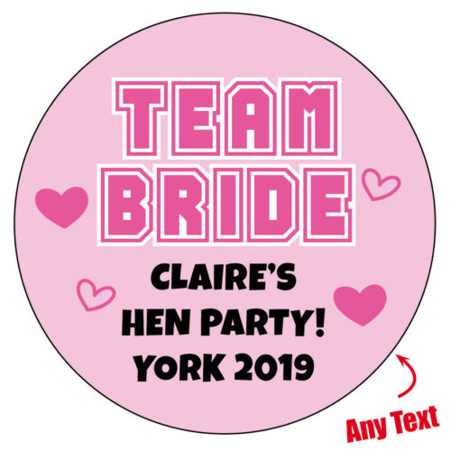 EXTRA LARGE TEAM BRIDE TRIBE Personalised Stickers Huge HEN DO PARTY GLOSSY 906