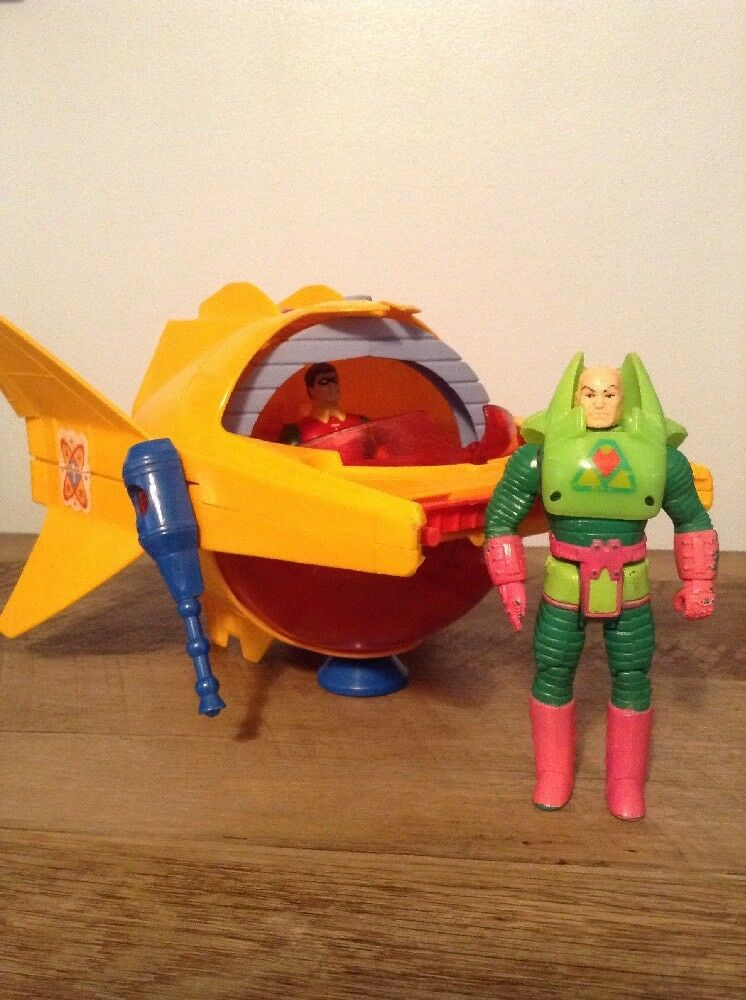 1985 DC Super Powers Delta Probe One   Robin & Lex Luthor Action Figure LOT
