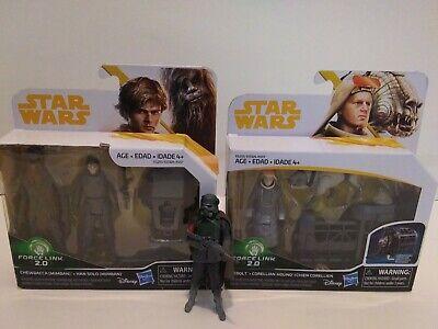 "Star Wars 3.75/"" Han Solo MUDTROOPER CHEWBACCA CORELLIAN HOUND 2-Pack IN STOCK"