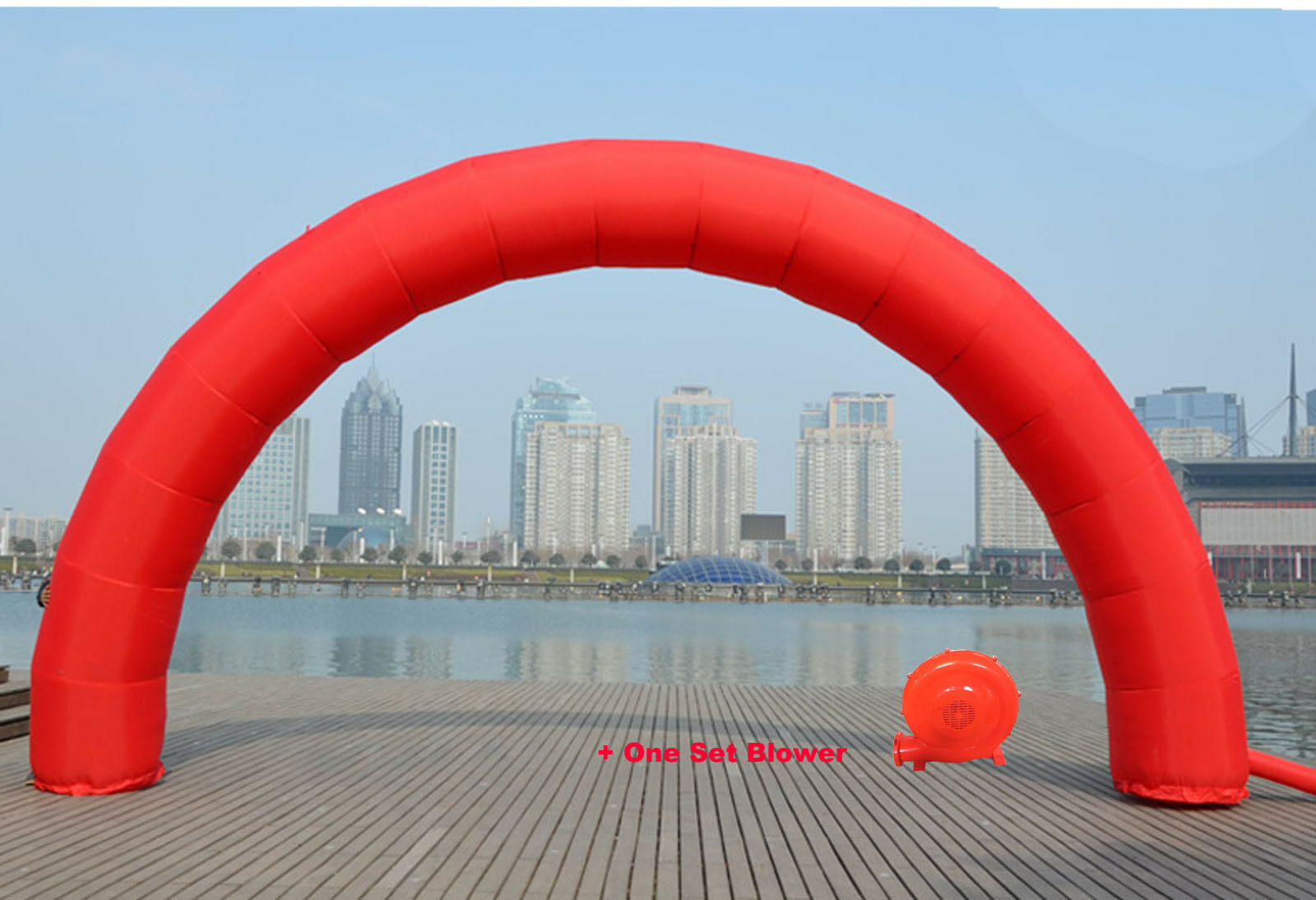 20ft10ft Inflatable Red color Adgreenising Birthday Party Decoration Arch New