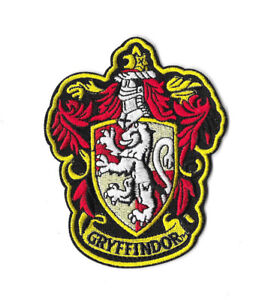 """Harry Potter Gryffindor Robe Crest  3/"""" Tall Embroidered Iron On Patch"""
